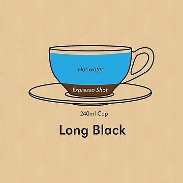 Coffee Addict, Long Black by georgianaarcher