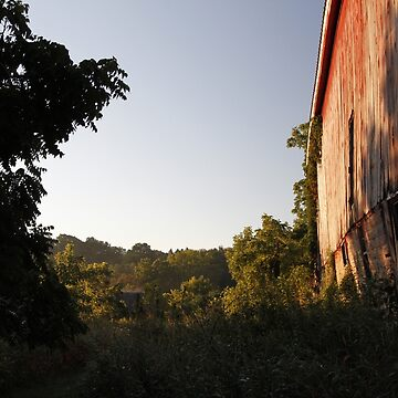 Rural Barn at Sunrise by ztrnorge