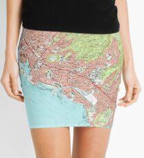Honolulu Hawaii Map (1983) Mini Skirt