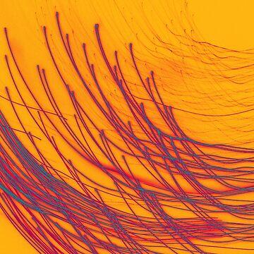Fireworks on Yellow by MidnightAkita