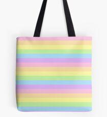 pastel rainbow stripes Tote Bag