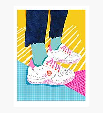 Butter - 80s retro throwback shoes sneakers fashion 1980's vibes memphis  Photographic Print