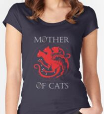 MOTHER OF CATS-GAME OF THRONES Women's Fitted Scoop T-Shirt