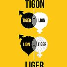 Tigon, liger by Stephen Wildish