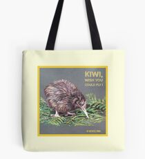 Kiwi, wish you could fly ! by Art4feel Paris (yellow) Tote Bag