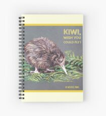 Kiwi, wish you could fly ! by Art4feel Paris (yellow) Spiral Notebook