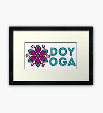 "AUM Symbol, flower mandala and ""DO YOGA"" sign for yoga Framed Print"