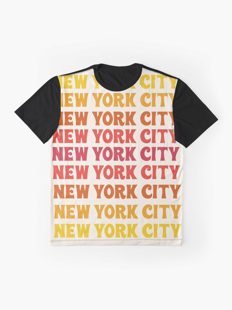 d8f0f88ba Alternate view of New york City typography 70s colors throwback vintage  style NYC Graphic T-