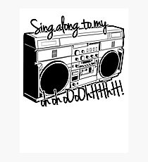 Sing A Long to My Stereo Photographic Print