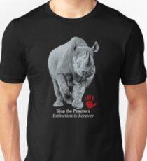 Black Rhino | Stop Poachers, Extinction is Forever T-Shirt