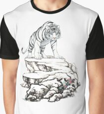 Chinese White Tiger Graphic T-Shirt