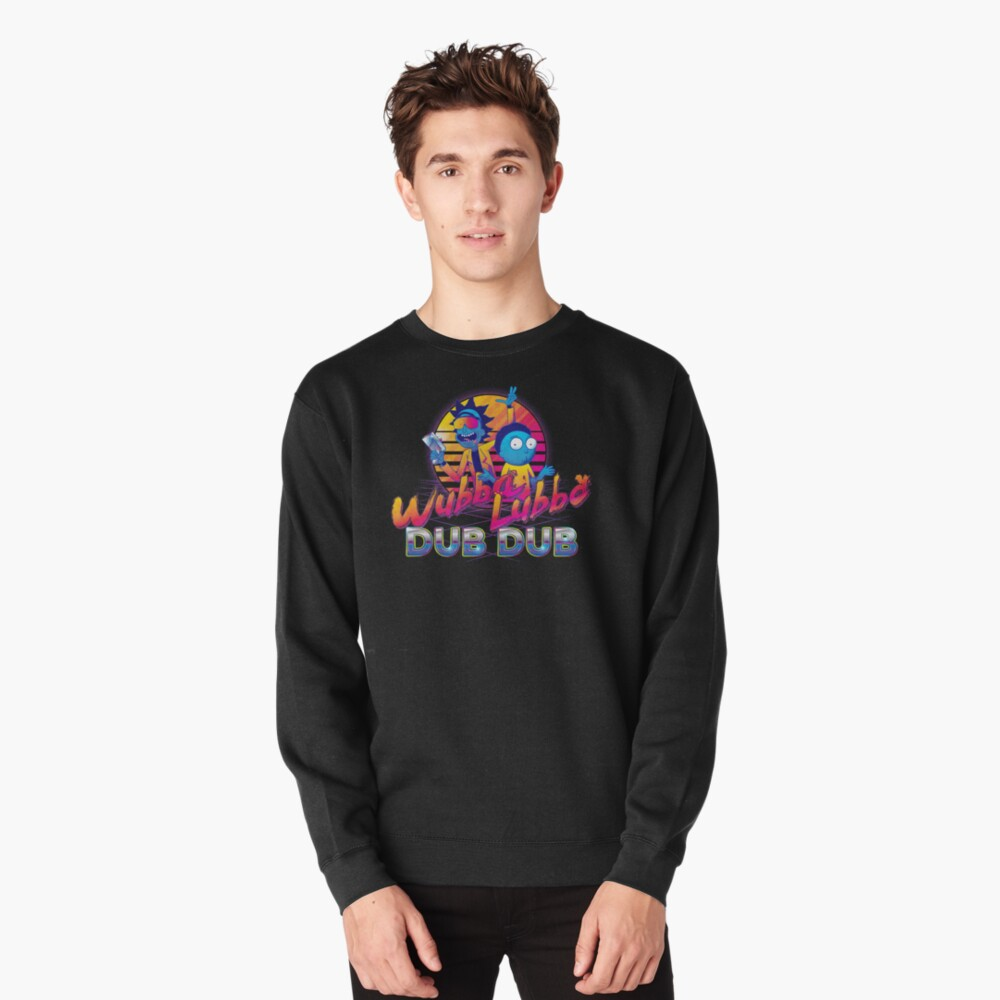 Rick and Morty Neon Pullover Sweatshirt