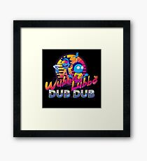 Rick and Morty Neon Framed Print