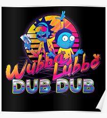 Rick und Morty Neon Poster