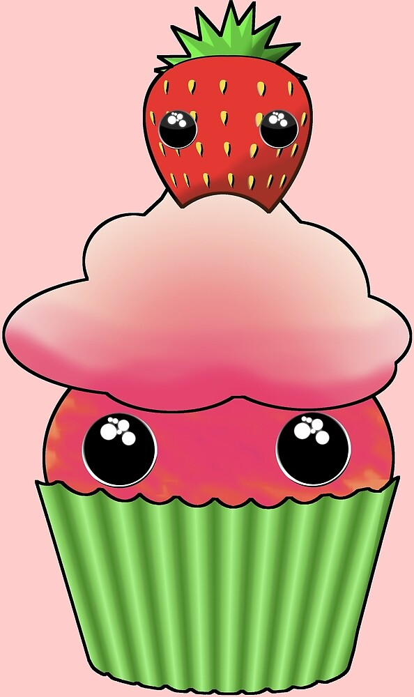 Cute Strawberry Cupcake - Design by Matilda Lorentsson by M-Lorentsson