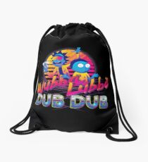 Rick and Morty Neon Drawstring Bag