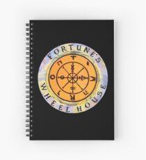 Fortune's Wheelhouse logo on black Spiral Notebook