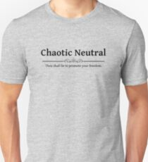 Chaotic Neutral DND 5e RPG Alignment Role Playing T-Shirt