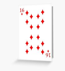 16 Diamonds Greeting Card