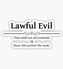 Lawful Evil DND 5e RPG Alignment Role Playing Sticker