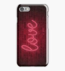 Love neon sign - Pink iPhone Case/Skin