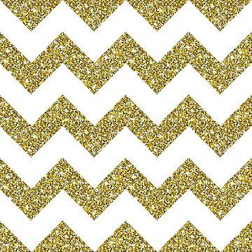 Gold Glitter Chevron Pattern Background by amovitania