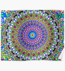 Multi-Coloured Gorgeous Mandala Symbol Poster