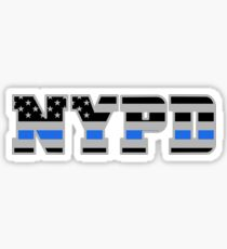 NYPD Thin Blue Line - American Police Flag Sticker