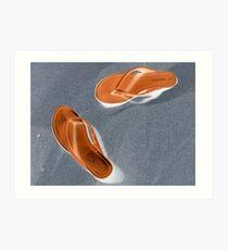 Flip-flop Sandals Art Print