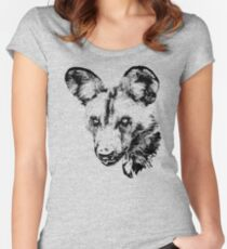 African Wild Dog | African Wildlife Women's Fitted Scoop T-Shirt