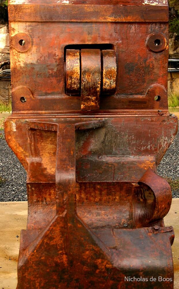 rusty steel II  by Nick de Boos