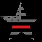 Thin Red Line - American Fire Fighter Flag by CentipedeNation