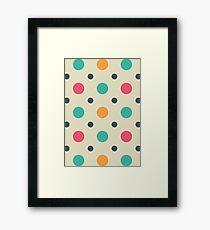 Polka Dots Lover (Color Mixer) Small Art Framed Print
