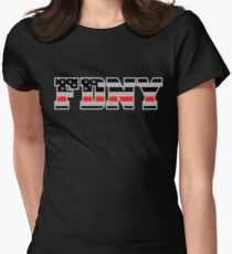 FDNY Thin Red Line - American Fire Fighter Flag Women's Fitted T-Shirt