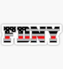 FDNY Thin Red Line - American Fire Fighter Flag Sticker