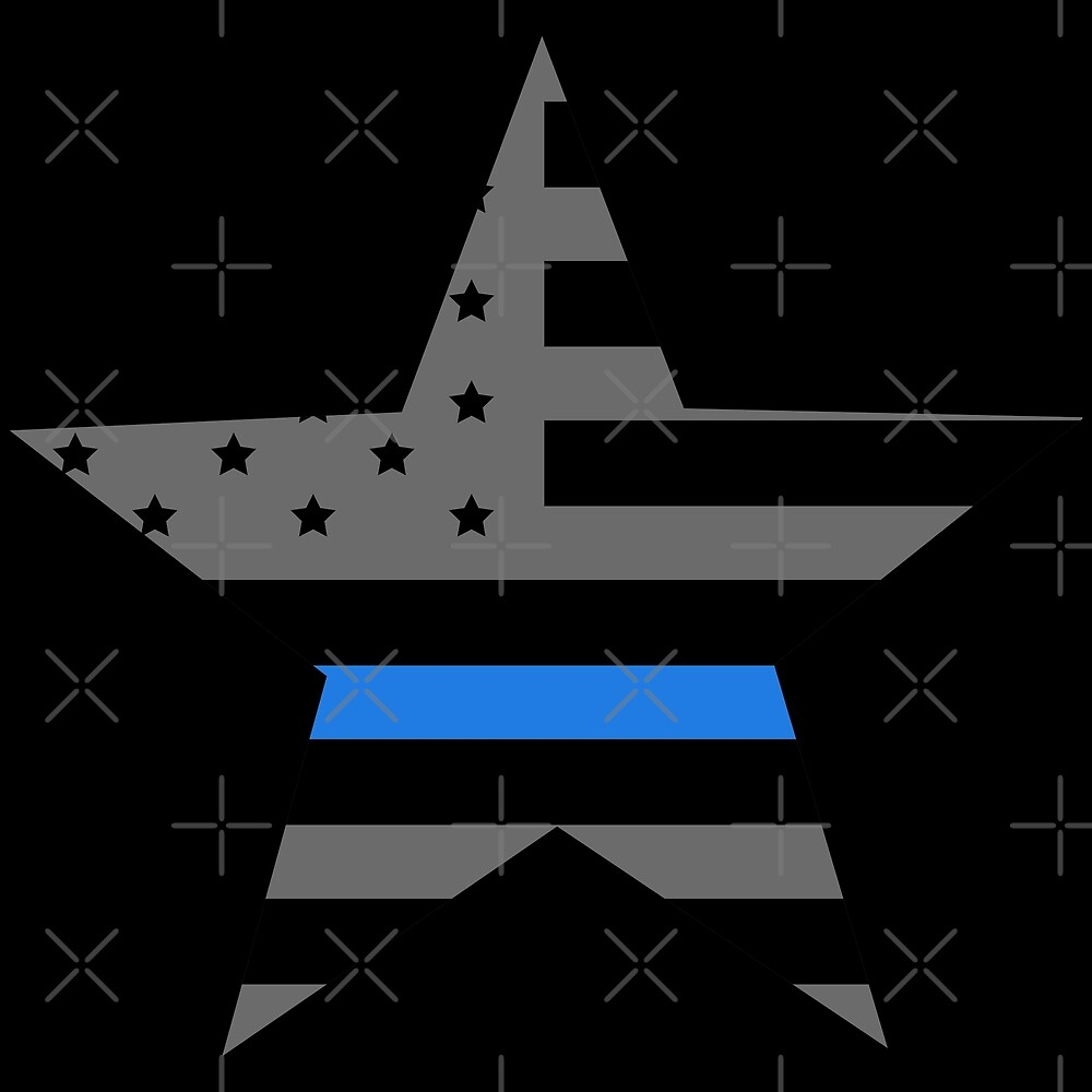 Thin Blue Line - American Police Flag by CentipedeNation