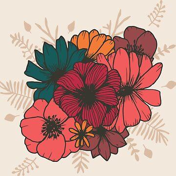 Boho Florals Nr. 1 - En Beige de MonJaro