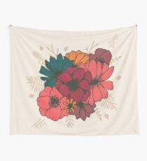 Boho Florals Nr. 1 - On Beige Wall Tapestry