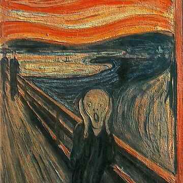 The Scream by Edvard Munch (Textured) by dzdn