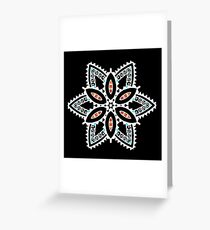 White lines - Mandala Greeting Card