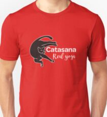 Cat in Catasana pose and REAL YOGA sign T-Shirt