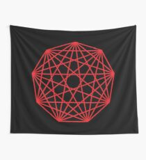 Interconnected Nonagon Shape Wall Tapestry