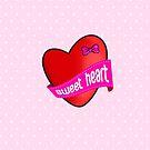 Cute sweet heart by Tee Brain Creative