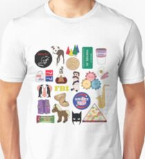 Parks and Rec Flatlay T-Shirt