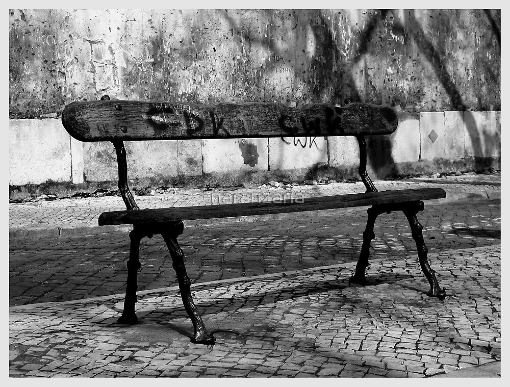 The lonely bench Lisboa by naranzaria