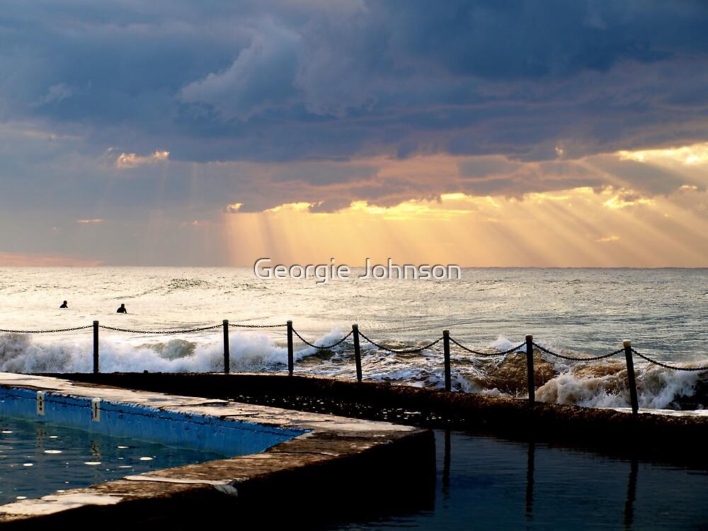 Sunrise at South Curl Curl Beach Sydney by Georgie Johnson