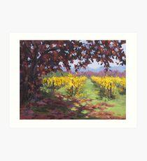 Fall Vineyard Painting Art Print