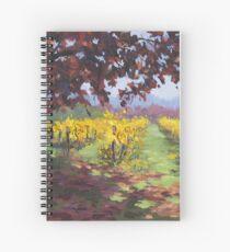 Fall Vineyard Painting Spiral Notebook