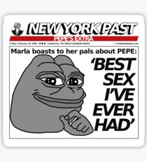 Trump NYPOST - BEST SEX I'VE EVER HAD Sticker
