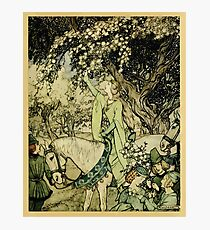 The romance of King Arthur and his knights of the Round Table art Arthur Rackham 1917 0517 How Queen Guenever Rode a Maying Photographic Print